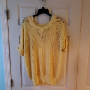 Chico's yellow tank and short sleeve sweater